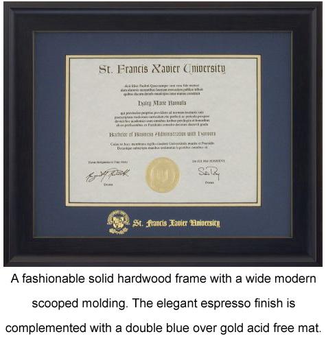 St. Francis Xavier University Alumni - Degree & Picture Frames